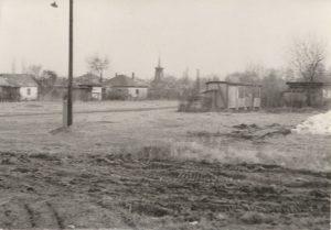 Gárdony, tóparthoz közeli településrész a főút felől fényképezve, a II. világháború után.